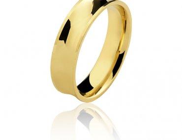 Aliança Ouro 18K Amarelo 2