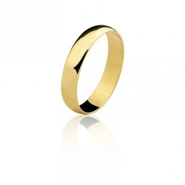Par Aliança ouro 18K Amarelo 4,5MM AL-DA45 2