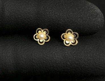 Brinco Ouro 18K Infantil Bolinha 2mm 13