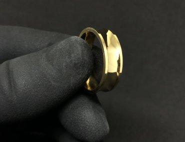 Par Aliança ouro 18K 2MM Quadrada Chanfrada 1