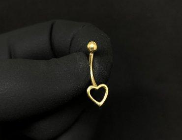 Piercing Umbigo Ouro 18K Coração