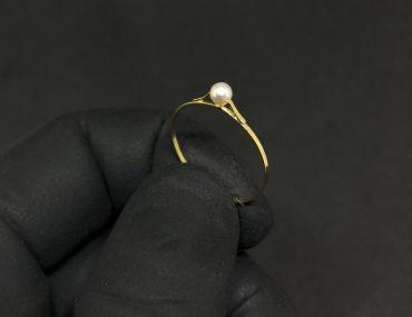 Anel Infantil Ouro 18K Pérola