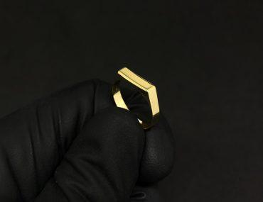 Anel Infantil Ouro 18K Coração Vazado 1