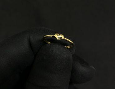 Anel Infantil Ouro 18K Coração