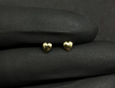 Brinco Ouro 18K Coração P