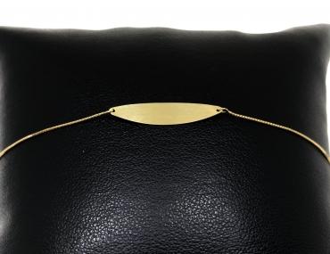 Pulseira Melindrosa Oval Ouro 18K 3